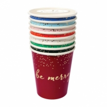 be jolly be merry party cups (8 st)