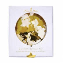 confetti balloon gold