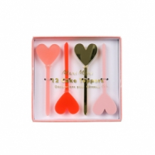heart cake toppers (12 st)