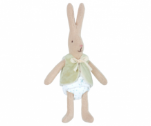 micro rabbit with light green vest