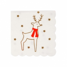 reindeer & star napkins small (16st)