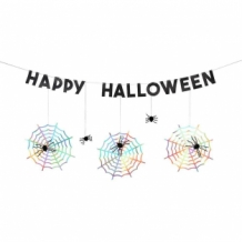spiderweb halloween garland