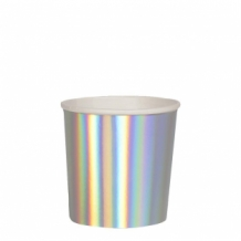 silver holographic tumbler cups