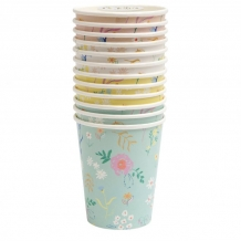 wildflower pastel cups (12 st)