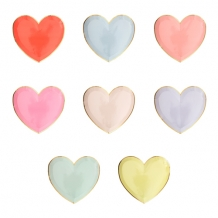 pastel heart plates small (8 st)