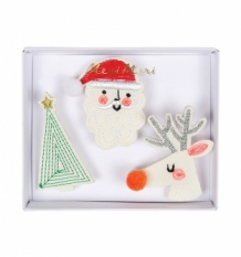 christmas broches (3 st)