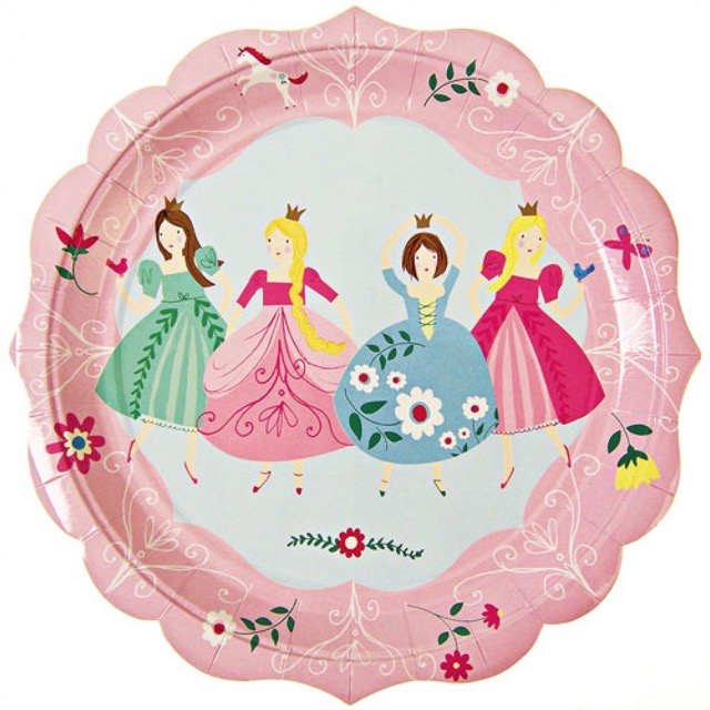I'm a princess plates large (12 st)