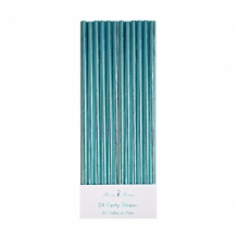 aqua foil party straws (24 st)