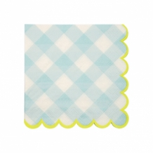 blue gingham napkins small (20 st)