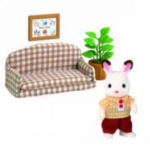 chocolate rabbit father set - settee