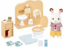 chocolate rabbit brother set - washroom