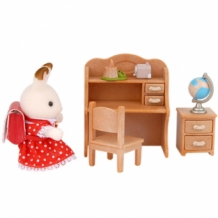 chocolate rabbit sister set - desk