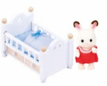 chocolate rabbit baby set - baby bed