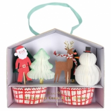 christmas cupcake kit honeycomb (24 st)