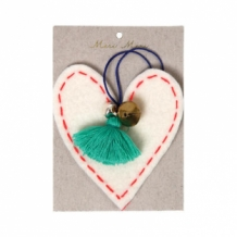 heart - embroidered felt