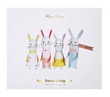 easter bunny egg decorating kit (6 st)