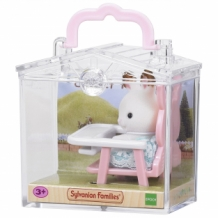 rabbit on baby chair - carry case