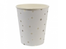 silver stars party cups (8 st)