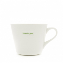 thank you - bucket mug