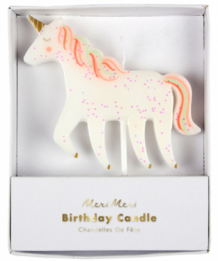 birthday candle - unicorn