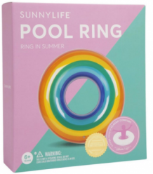 pool ring - rainbow