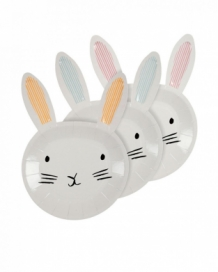 bunny-shaped easter plates (12 st)