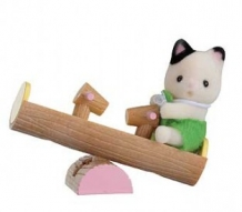 cat on seesaw - carry case