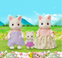 Floral Cat Family