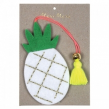 pineapple - embroidered felt