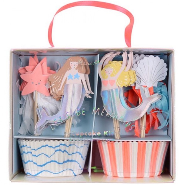 let's be mermaids cupcake set (24 st)