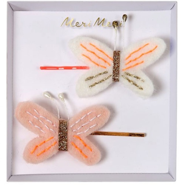 butterfly hair pins (2 st)