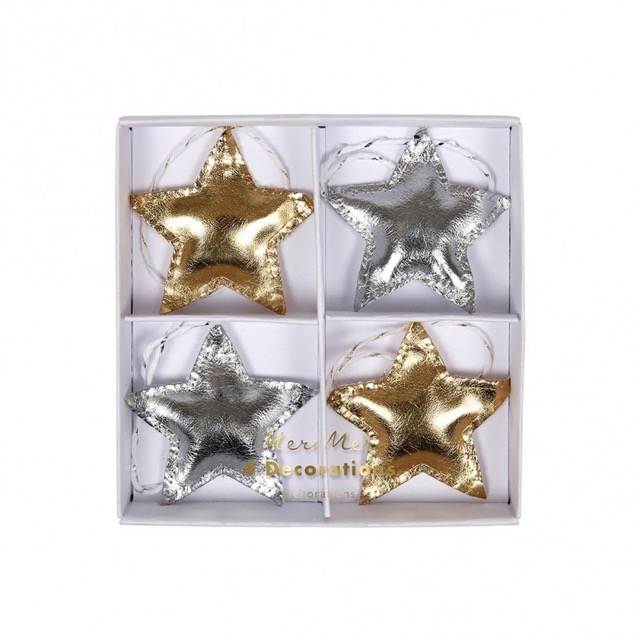 metallic star (4 st)