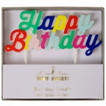 happy birthday candles multicolor (24 st)
