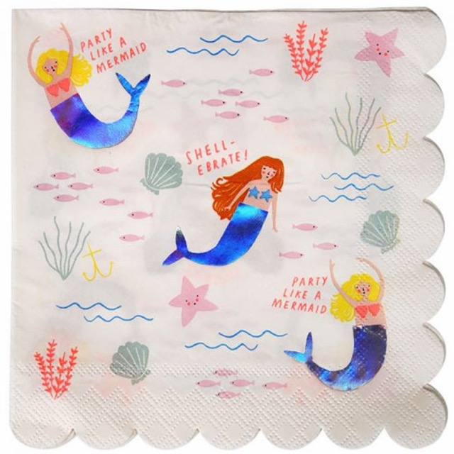 let's be mermaids napkins large (16 st)