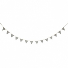 silver knitted flags garland
