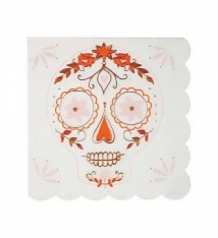Mexican halloween napkins small MM