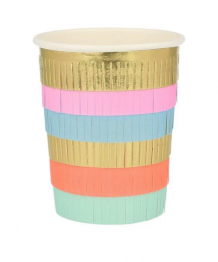 circus fringe party cups - 8 st