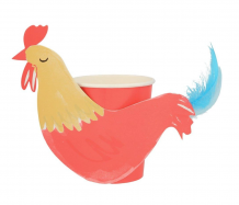 on the farm rooster party cups - 8st