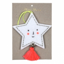 star - embroidered felt